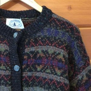 Vintage Acadia National Park knit grandpa cardigan